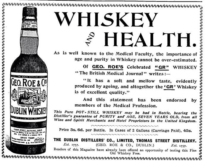 Whiskey and Health - Funny Vintage Ads