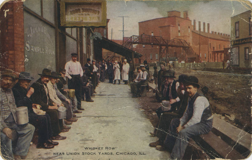 Whiskey Row Near Union Stock Yards Chicago Illinois NBY 415401