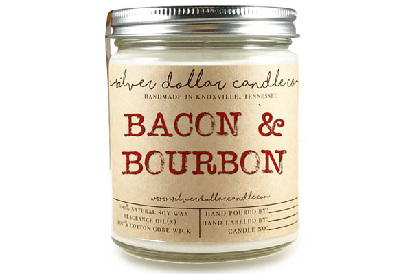 bacon bourbon candle fathers day bourbon gift